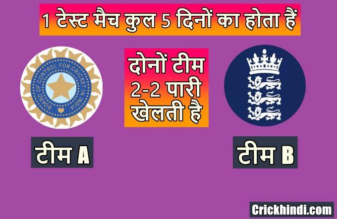 टेस्ट मैच कितने दिन तक चलता है | Test match kitne dino ka hota hai
